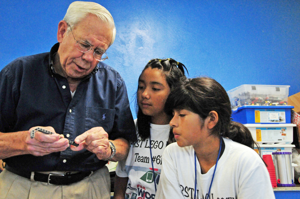Under the guidance of former engineer Jerry Gleason, the L.I.F.E. after-school program fielded a team of students from east Salinas which will research, design, build and present robots for participation in the 2014 FLL WORLD CLASS℠ Challenge.